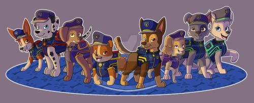 Paw Patrol Ultimate Rescue Police Pups by kreazea