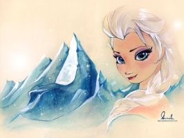 Frozen - Elsa by kleinmeli