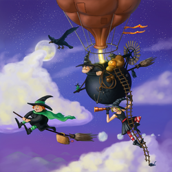 Travelling Witches by Chris-Garrett