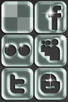 Social Network Icon Set 3 by TheLudomancer