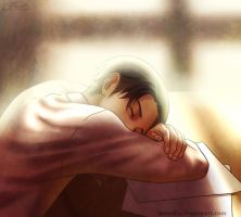 Sleeping Levi by Suncelia