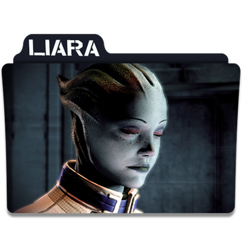 Mass Effect Folder/Icon - Liara by Lezya