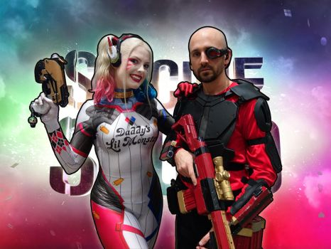Deadshot and Harley Quinn by callianis