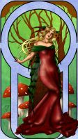 Forest Queen Art Nouveau by Ariana-Blossom