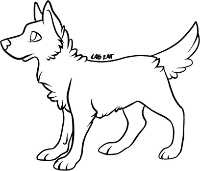 Free dog lineart by alive-lab-rat