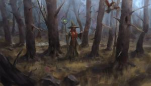 Forest witch by Beaver-Skin
