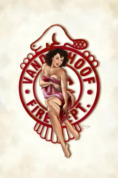Vanderhoof Fire Dept Pinup by TawmiePylon