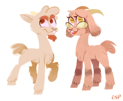 Goats by spacekitsch
