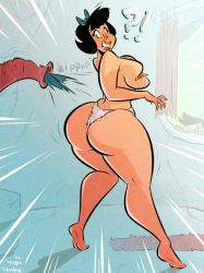 Betty Rubble - New Vacuum Cleaner - Commission by HugoTendaz