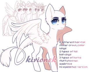 p2u pony base ADDED NEW STUFF (fishtail,scarf,hair by kirionek