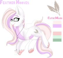 Feather Hooves  By Creativechibigraphic by zombiegoddess666