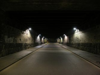 Rundown Street Tunnel at Night by CopperSaturday