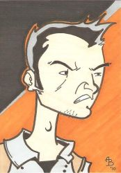 CHEW sketch card by Elvatron