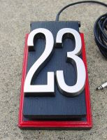 The Number 23 foot pedal by patchwork-steve