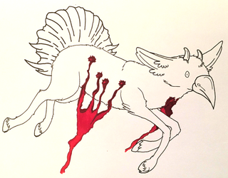 Inktober 2018: Day 5 {Bleeding Out} by Ravens-Folklore