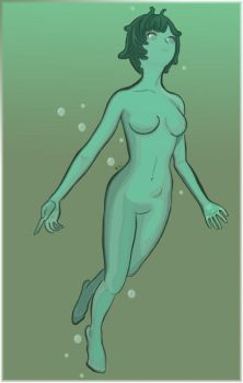 Tranquility of the Merfolk by whooping-llama