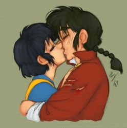 Ranma and Akane kissing. Hee. by Tell-Me-Lies