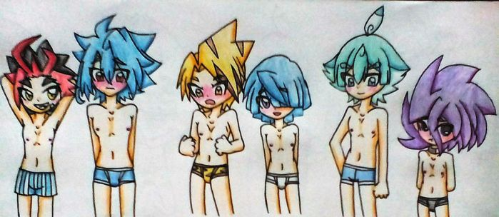 Buddyfight baes on underwear by Liza-Lunashine