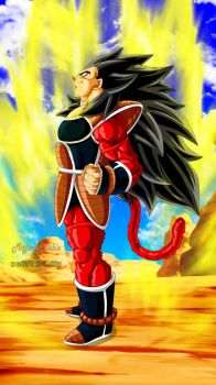 Raditz SSJ4 by Majingokuable