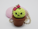 Kawaii Cactus Pot by lunarbunart