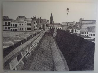 Finished fine liner drawing 150cm x 110cm by awesomedude2k