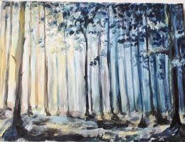 Sun in the forest by Leona-Norten