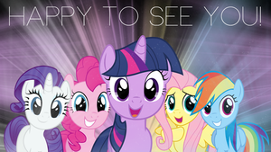 Happy to See You W/ text by Silentmatten