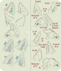 Realistic Canine Ear Tutorial by AntiDarkHeart