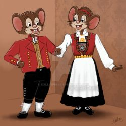 Mouse in national costume