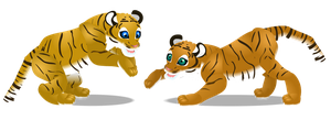 Bengal tiger cubs by PurpleRat-YS