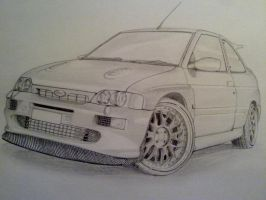 Ford Escort Rs Cosworth by PIKEO