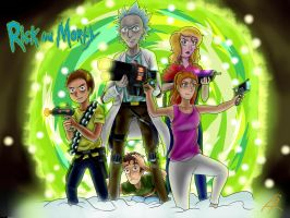 Rick And Morty Wallpaper [+SPEEDPAINT] by daskillerfussel