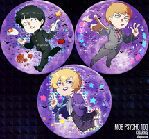 Mob Psycho 100 Charms by GRAVEWEAVER