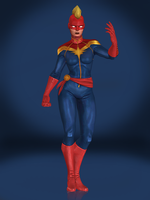 Captain Marvel by Sticklove