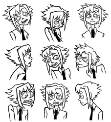 Emotion sheet for Jasna by StygianRecluse