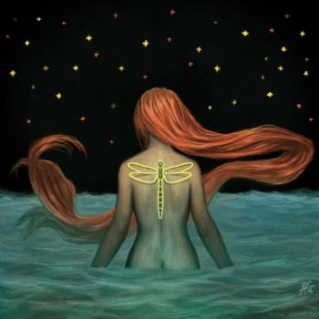 About the ocean, the end and the dragonfly by ajinak