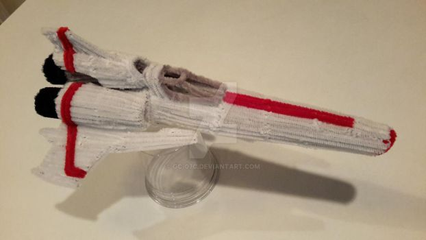 Pipe Cleaner Battlestar Galactica Viper Mark 2 - 2 by GC-07c