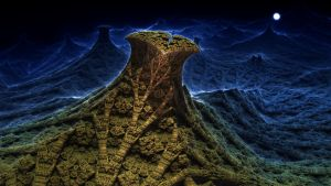 Full Moon Valley - Mandelbulb 3D fractal by schizo604