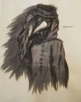 Ink Horror series - The Plague Doctor by Deaki-chan
