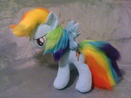 My Little Pony - Rainbow Dash Plush by tentenswift