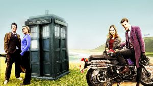 Doctor Who Wallpaper - 10th and 11th Doctor by letydb
