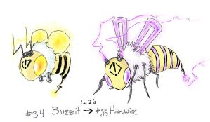 Fakemon: Electric Bee by Dyemelikeasunset
