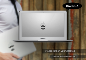 Bazinga MacStickrs wallpaper by luisperu9