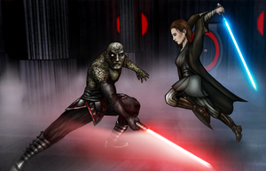 Darth Sion versus Meetra Surik by AraxussYexyr
