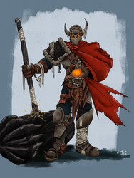 Fordrav the Battered Knight by SilkyNoire