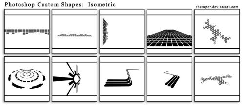 Isometric Shapes by thesuper