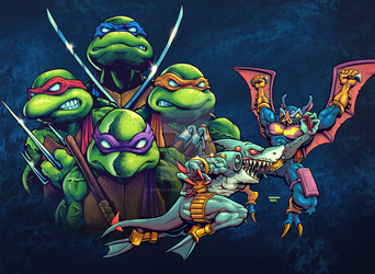 TMNT Tournament Fighters: Armaggon vs Wingnut by donovanalex