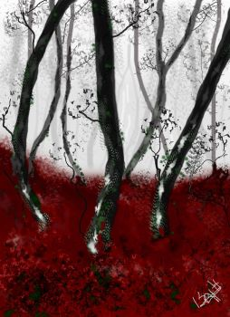 Red Forest by Hallith