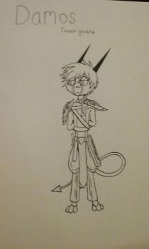 Damos, tower guard- Dreamkeepers OC remastered by Ender-pearl2-0