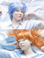 Asuka and Rei - Morning by Sweet-Empathy